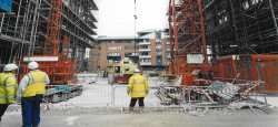 Construction Site with high vis jackets