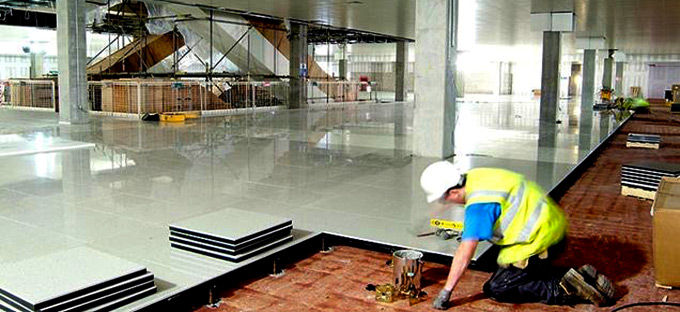 Safely handling floor tiles