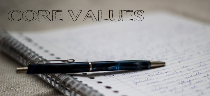paper and pen core values
