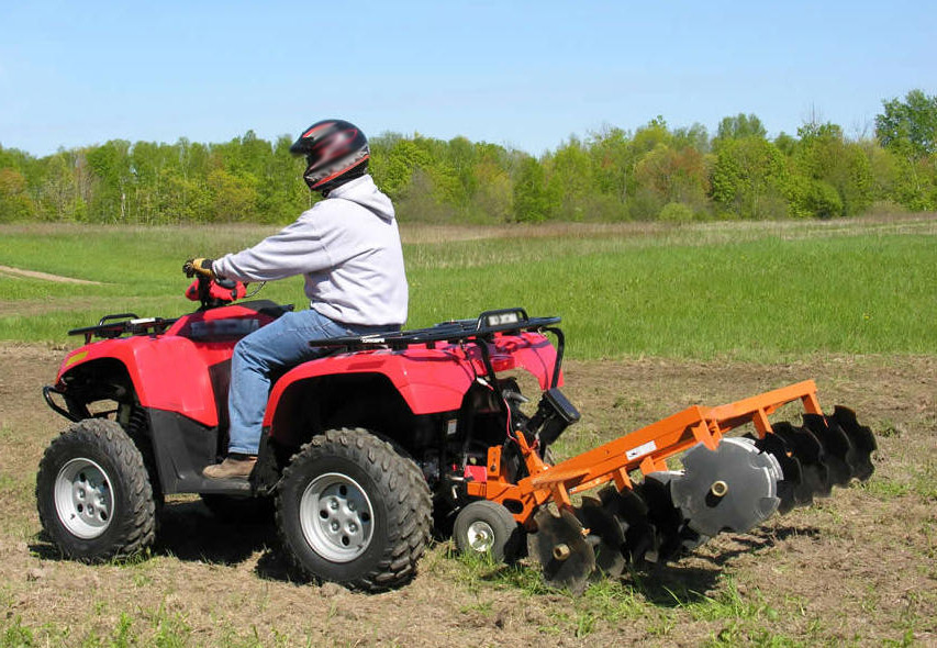 ATV being used safely.